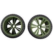 Revell 47028 2 x Räder grün, groß (Buggy) 1:14