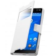 Coque Étui Housse Fenêtre Sony Xperia C5 Ultra & Ultra Dual - Blanc-Contour Incassable