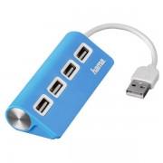 Hub USB Hama 4porturi albastru