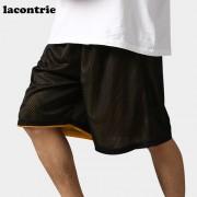 2017 Lacontrie Basketball Shorts Men Sport Shorts Double Side Trunks Elastic Waist Grid Plus Size Men Basketball Training Shorts