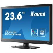 Monitor iiyama E2480HS-B2, 24'', LCD, 2ms, 250cd/m2, 1000:1 (5M:1 ACR), FullHD, VGA, DVI, HDMI, repro, čierny