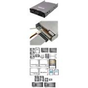 "Scythe YD-8V08-BK Floppy & 8 in 1 Card-Reader 3,5"" [8,89cm] schwarz"
