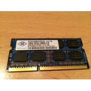 MEMOIRE PC PORTABLE DDR3 NANYA / 2GB 2Rx8 PC3 - 8500S - 7-10-F2.1066 / NT2GC64B8HC0NS-BE