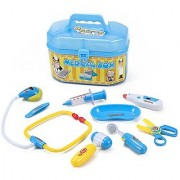 Family Doctor Medical Box Kit Playset for Kids - Pretend Play Tools Toy Set