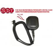 PJD-4602 MICROFONO/ALTOPARLANTE CRISTAL CLEAR AUDIO PER KENWOOD/WOUXUN/POLMAR/BAOFENG