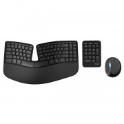 Kit tastatura si mouse Microsoft Sculpt Ergonomic Desktop Wireless USB Negru