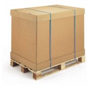 RAJAPACK Braunes Wellpapp-Container-Element 2-wellig 117,5 x 99 x 60 cm
