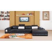 items-france SASSARI - Canape d'angle en cuir 4 places 373x194