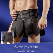 Svenjoyment Rock Gladiator Skirt Costume Black 2140063