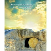 Now Hurry Sunrise Easter Bulletin, Large (Pkg of 50)