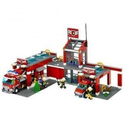 Ages 5 and above-Contains 600 Pieces-Set includes Fire station fire truck chiefs car and four firefighters minifigur
