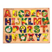 Skillofun Wooden Picture on Alphabet Tray with Knobs, Multi Color