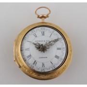 Zlaté barokní kapesní hodinky Rivers & Son London