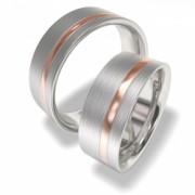 Luxusní Ocelové snubní prsteny 7090-4