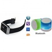 ETN Music Mini Bluetooth Speaker(S10 Speaker) And DZ09 Smart Watch for LG OPTIMUS L5 II DUAL