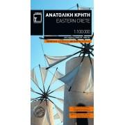 Wandelkaart - Fietskaart - Wegenkaart - landkaart Eastern Crete - Kreta Oost | Terrain maps