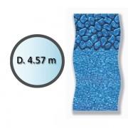 swimline - liner boulder forme ronde d.4.57m pour piscine hors sol li1548sbo