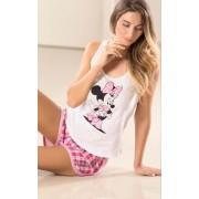 Pijama Feminino Mixte Adulto Short Doll Minnie Rosa