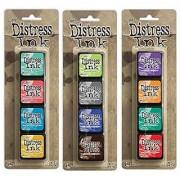 Ranger Tim Holtz Distress Mini Ink Pad Kits - #13 #14 and #15 Bundle