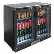 Botellero frigorífico bajo de dos puertas pivotantes Polar DP287