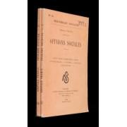 Bibliothèque Socialiste N°13 Et 14 : Opinion Sociales (2 Volumes)