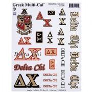 Delta Chi Window Stickers