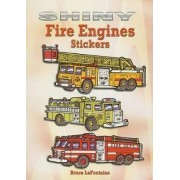 Shiny Fire Engines Stickers by Bruce LaFontaine