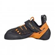 Scarpa Instinct VS Unisex Gr. 37½ - orange schwarz / black - Kletterschuhe Klettverschluss
