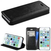 Funda Cartera Piel Sintética Apple Iphone 5c Negro