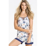 Blusa de Alça com Short Estampa Floral - Mixte