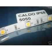 5m SMD5050 LEDS STRIP STRISCIA BIANCO CALDO 32w IP68
