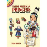 Native American Princess Sticker Paper Doll by Yuko Green