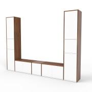 TV-Schrank Nussbaum, MDF, 266 cm x 194 cm x 34 cm