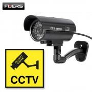 TL-2600 Waterproof Outdoor Indoor Fake Camera Security Dummy CCTV Surveillance Camera Night CAM LED Light