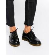 Dr Martens Черные туфли на плоской подошве Dr Martens 1461 - Черный