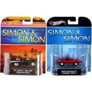 Simon & Simon Detective TV Series Chevy Iroc Z & Bel Air Convertible Hot Wheels Retro Entertainment Set