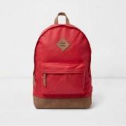 River Island Mens Red front pocket backpack