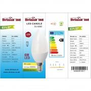 Set 10 spoturi LED 6W 220V GU 5.3 Lumina rece DLF 6061