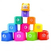 Beyoung® Brilliant Basics Stack & Roll Cups, Stacking Up Cups, Stack & Roll Cups Toy (Hexagon Stacked Cup)