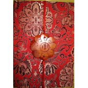 Cahier - Journal Intime - Satin Chinois - Rouge - 19x14x2cm - Notebook - Chinese Satin - Red