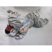 """Animal Pals Kuddle Me Toys Laying Jungle Animals 14"""" White Tiger Plush 2012"""