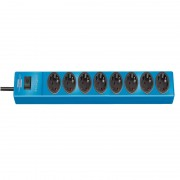 hugo! Prolongateur multiprises 8 prises bleu 2m H05VV-F 3G1,5