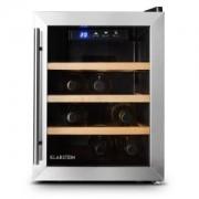 Klarstein Reserva 12 Uno, 33 литра, хладилна винотека, 12 бутилки, от неръждаема стомана, LED