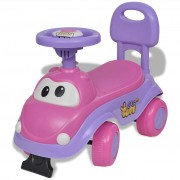 vidaXL Carro ride-on para crianças cor de rosa-roxo