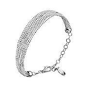 Canyon -B4665 - Multi Band Bracelet - 925 Sterling Silver - 19cm