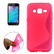 S Line Anti-slip Frosted TPU Protective Case for Samsung Galaxy J2 / J200(Magenta)