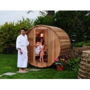 Western Red Cedar Wood Barrel Saunas