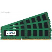 Crucial 24GB (3x8GB) DDR3L 1600MHz Registered ECC DIMM PC3-12800 CL11 1.35V Server Memory Module