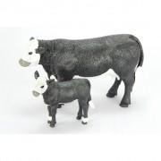 Big Country Toys Black Baldy Cow & Calf - 429