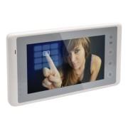 "Post interior video DT27SD-TD7-W ecran TFT color de 7"" TOUCH SCREEN, sunet de apel progamabil, functie de apel intre locatari si functie de monitorizare (initiere comunicare cu postul exterior)"